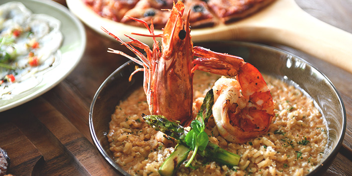 Tiger Prawn Risotto from Blue Lotus Mediterranean Kitchen & Bar in Queenstown, Singapore