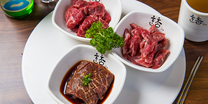 Boneless Short Rib and Marinated Beef Sirloin and Marinated Short Rib, Hancham BBQ Restaurant (Winfield Commercial Building), Tsim Sha Tsui, Hong Kong