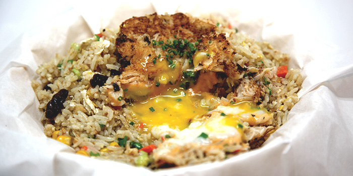 Exploding Crab Fried Rice with Egg from Dancing Crab in Bukit Timah, Singapore