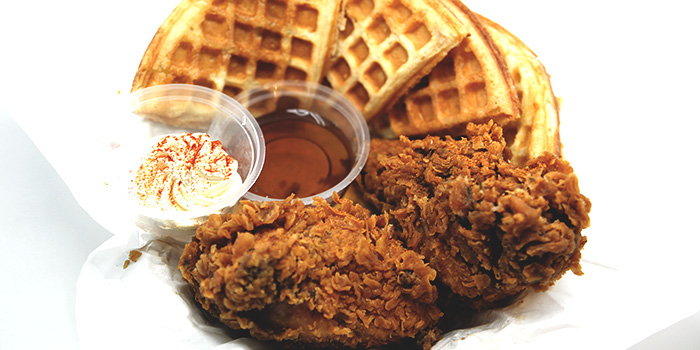 Fried Chicken & Waffle from Dancing Crab in Orchard, Singapore