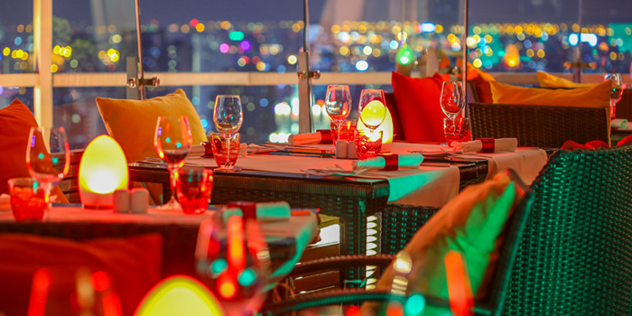 Dining Area from Red Sky at Centara Grand at Central World, Rama 1 Road, Bangkok
