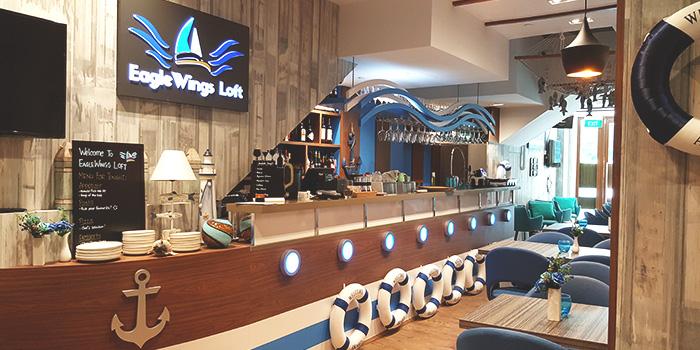 Interior of EagleWings Loft at KAP Residences Mall in Bukit Timah, Singapore