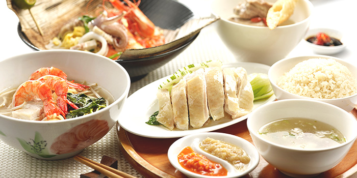 Local & International Buffet Spread from Town at The Fullerton Hotel Singapore in Raffles Place, Singapore