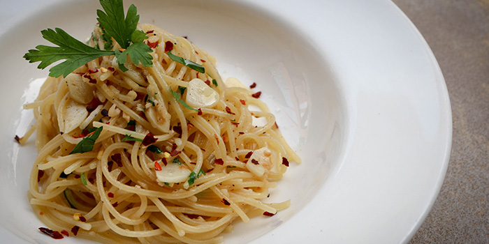 Aglio Olio from Fumee by Habanos at Millenia Walk in Promenade, Singapore
