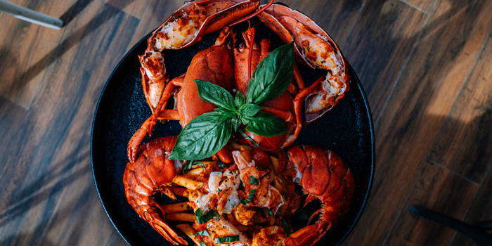 Grilled Canadian Lobster Arrabiata from Crostini at Mercury Ville Mall, Bangkok