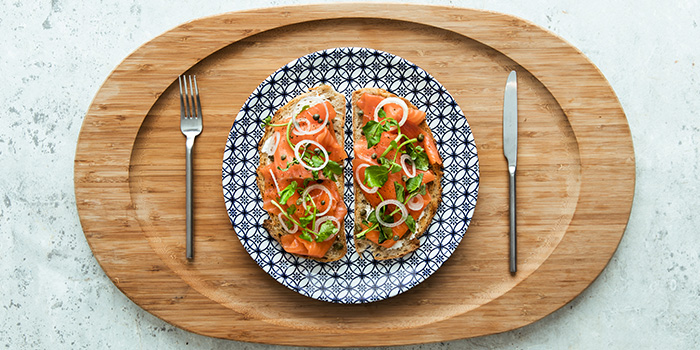 Smoked Salmon Toast (Icehaus) from Alley on 25 in Andaz Singapore in Bugis, Singapore