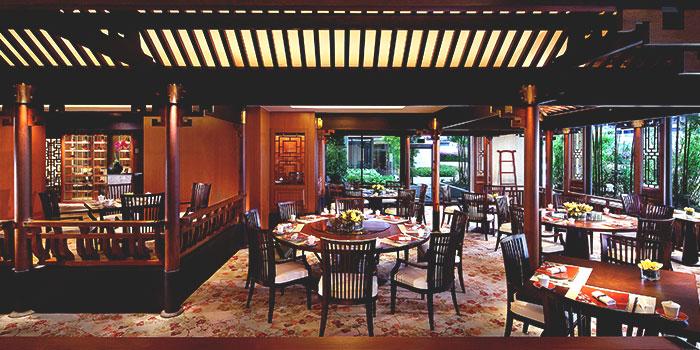 Interior of Cherry Garden in Mandarin Oriental in City Hall, Singapore