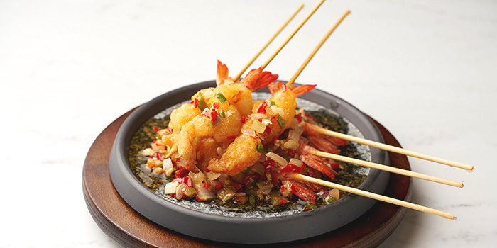 Prawn with Spicy Sauce served with Sizzling Plate from Lao Bei Jing at Novena Square in Novena, Singapore