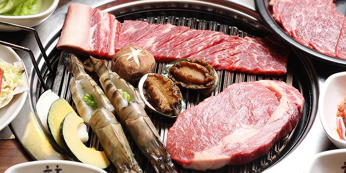 Prawns and OX Tongue, Hancham BBQ Restaurant (Winfield Commercial Building), Tsim Sha Tsui, Hong Kong
