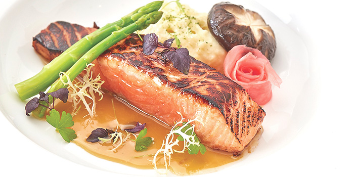 Wok Charred Salmon from Royale at Mercure Singapore Bugis in Bugis, Singapore