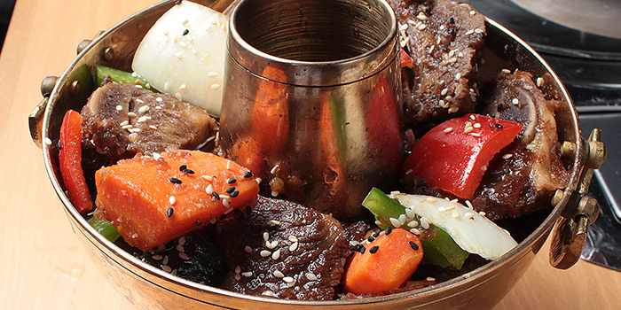 Sizzling Stone Pot with Kimchi and Flying Fish Roe, Hancham BBQ Restaurant (Winfield Commercial Building), Tsim Sha Tsui, Hong Kong