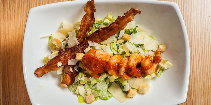 Caesar Salad with Fishermans Whalf Shrimp, Cali-Mex, Stanley, Hong Kong