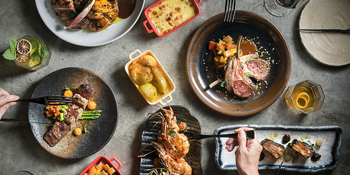 Food Spread from fȳr in Raffles Place, Singapore
