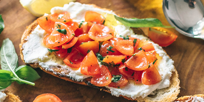 Bruschetta from Acqua e Farina at The Rail Mall in Bukit Timah, Singapore