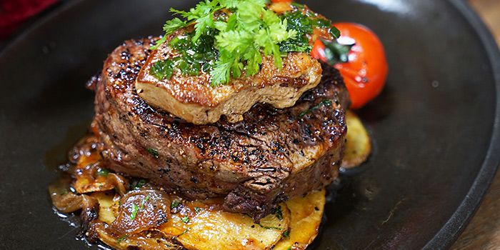 Tournedos Rossini (4 Dec to 1 Jan) from Bedrock Bar & Grill in Pan Pacific Serviced Suites Orchard in Orchard, Singapore