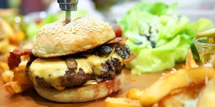 Beef Burger from Infustion Eatery & Bar at Yen Akat Road, Yanawa, Bangkok