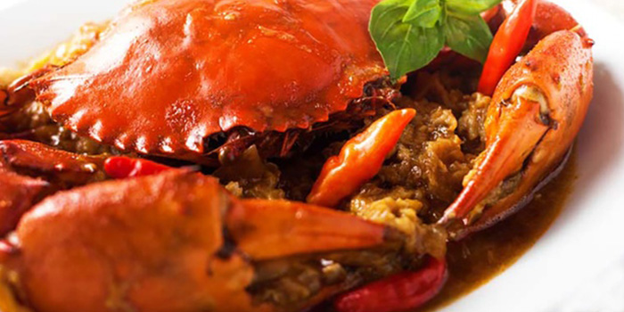 Crab from Café 2000 at M Hotel in Tanjong Pagar, Singapore