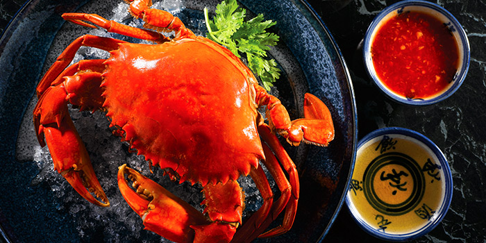 Teochew Cold Crab from Zui Yu Xuan Teochew Cuisine at Far East Square in Telok Ayer, Singapore