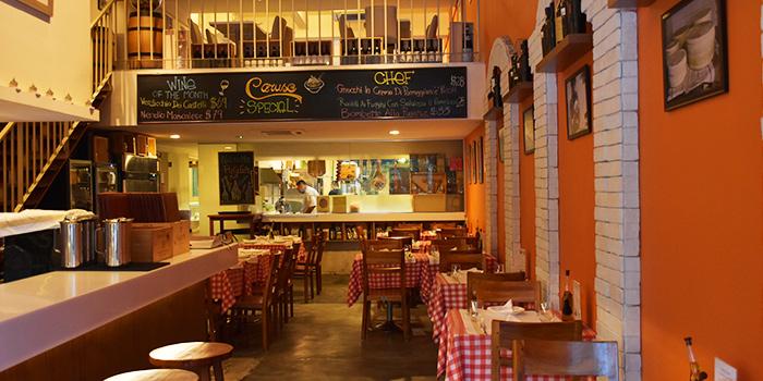 Interior of Caruso Ristorante on Bukit Timah Road, Singapore