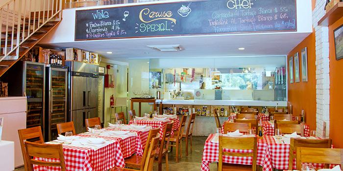 Main Dining Area of Caruso Ristorante on Bukit Timah Road, Singapore