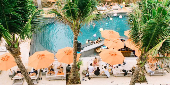 Chilling by the Pool of Cafe Del Mar in Kamala, Phuket, Thailand.