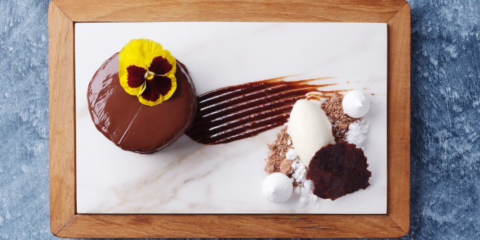 Chocolate-Sacher-Torte from Sizzle Rooftop Restaurant in Tritrang, Patong, Phuket, Thailand.