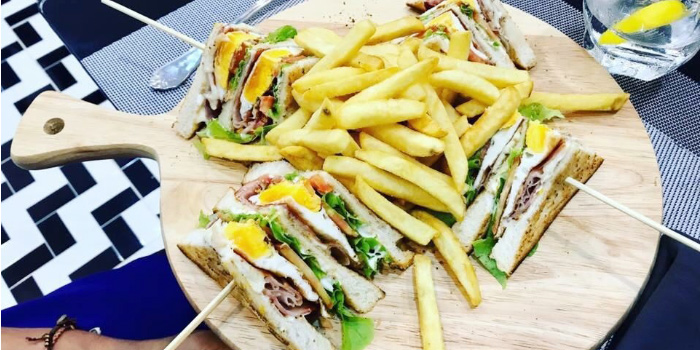 Club-Sandwich-with-French-Fries from Casanova in Patong, Phuket, Thailand.