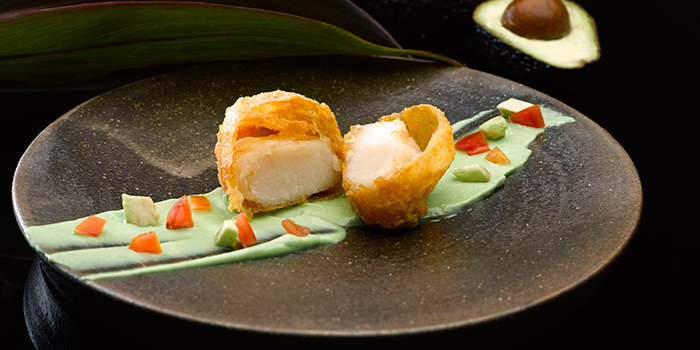 Deep Fried King Scallop with Salted Egg York from Crystal Jade Dining IN in VivoCity in Harbourfront, Singapore
