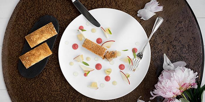 Duck Foie Gras Terrine Peach and Verbena, Restaurant Petrus, Admiralty, Hong Kong