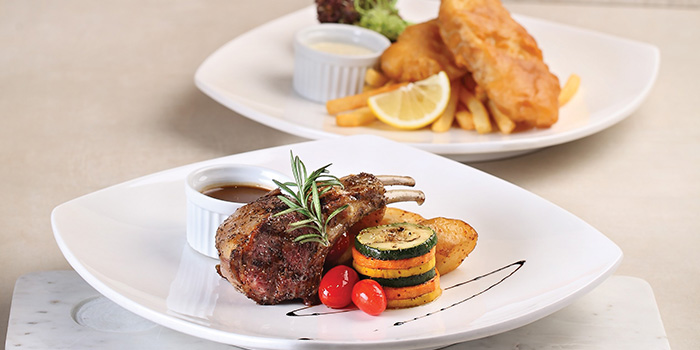 Rack of Lamb & Battered Haddock Fish & Chips from Earle Swensen