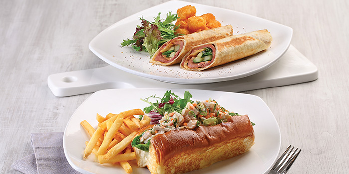 Smoked Duck Wrap & Boston Lobster Roll from Earle Swensen