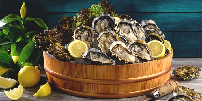 Freshly Shucked Canadian Oysters from Four Points Eatery at Sheraton Singapore Riverview in Robertson Quay, Singapore