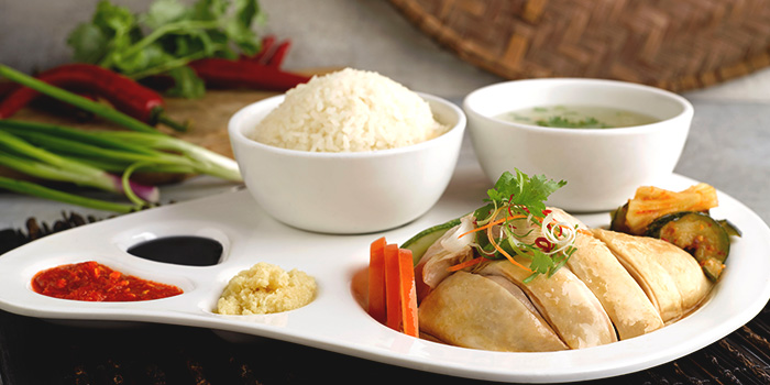 Hainanese Chicken Rice from Four Points Eatery at Sheraton Singapore Riverview in Robertson Quay, Singapore