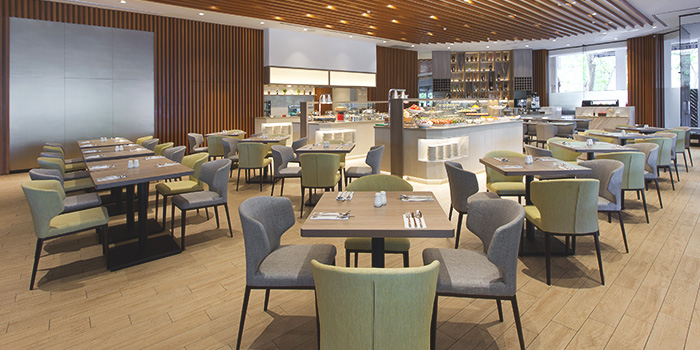 Interior of Four Points Eatery at Sheraton Singapore Riverview in Robertson Quay, Singapore