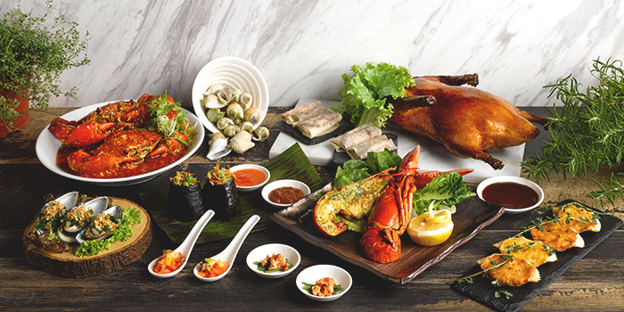 Oceania Seafood Buffet Dinner Spread from Four Points Eatery at Sheraton Singapore Riverview in Robertson Quay, Singapore
