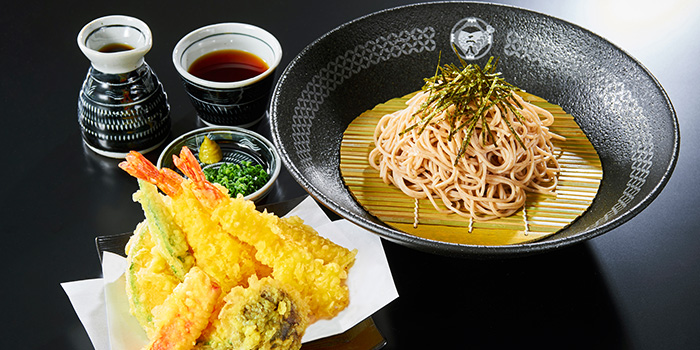 Cold Soba with Tempura from Nadai Fujisoba Ni-hachi at 100AM in Tanjong Pagar, Singapore