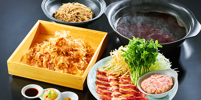 Hotpot Spread from Nadai Fujisoba Ni-hachi at 100AM in Tanjong Pagar, Singapore