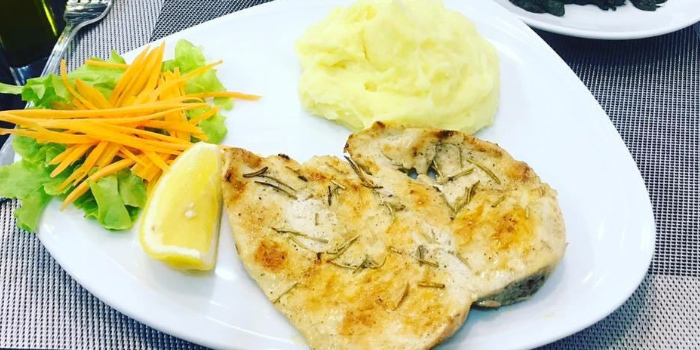 Grilled-Chicken-Breast-with-Mashed-Potato from Casanova in Patong, Phuket, Thailand.
