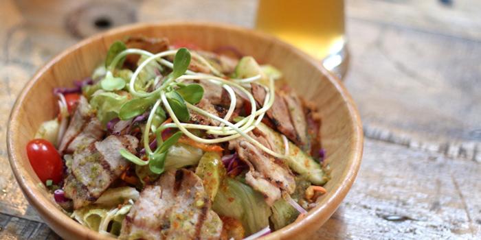 Grilled Kurobuta Spicy Salad from Wishbeer Home Bar at 1491 Soi Sukhumvit 67, Phra Khanong Nuea, Bangkok
