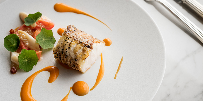 Grilled Monkfish Tail on the Bone Piparrade with Piment Despelet, Restaurant Petrus, Admiralty, Hong Kong