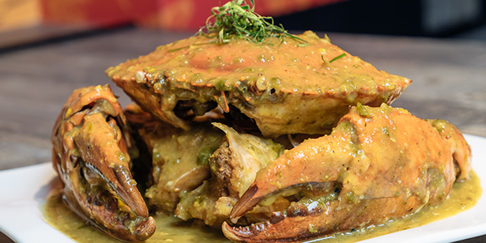 Green Chilli Crab from HolyCrab in Bugis, Singapore