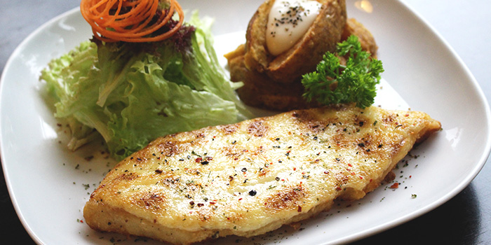 Creamy Baked Dory Fish from Hob Nob at Far East Shopping Centre in Orchard Road, Singapore