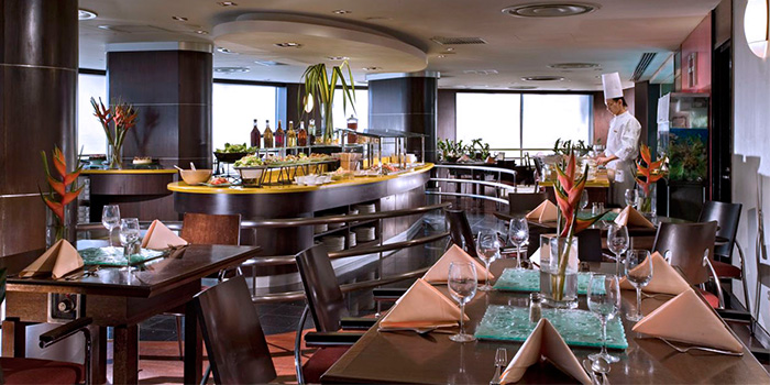 Interior of The Buffet at M Hotel in Tanjong Pagar, Singapore