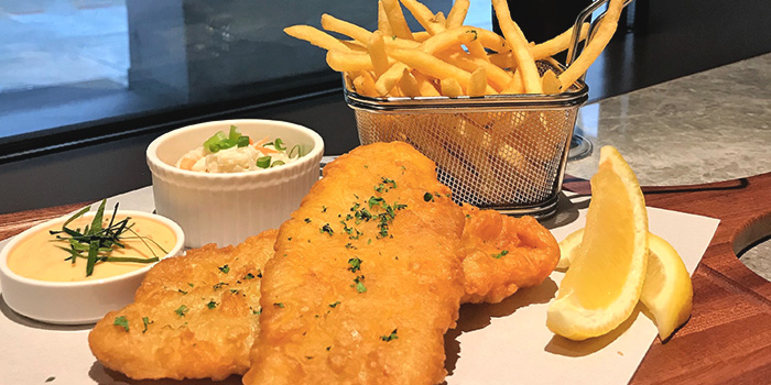 Fish & Chips from Local Restaurant & Bar at 30 Bencoolen in Bugis, Singapore