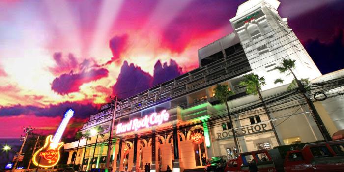 Restaurant Atmosphere of Hard Rock Cafe Phuket in Patong, Phuket, Thailand.
