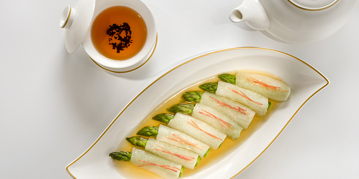 Sauteed as paragus with bamboo piths, Golden Leaf, Admiralty, Hong Kong