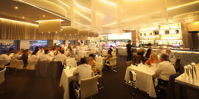 Main Dining Hall of Stellar at 1-Altitude at Raffles Place, Singapore