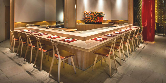 Counter Seating of MAI by Dashi Master Marusaya in Outram, Singapore