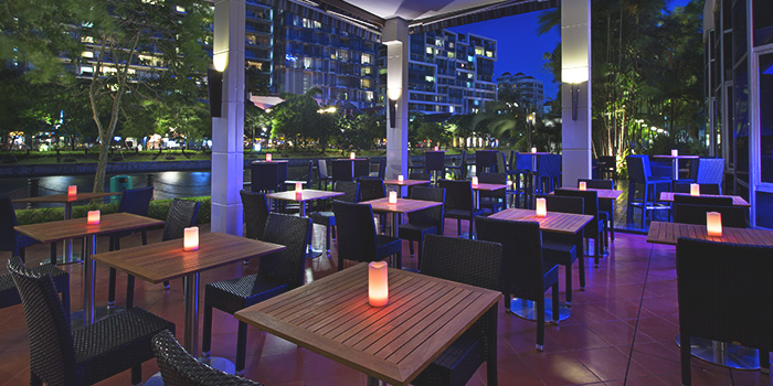 Al Fresco Dining Area of The Best Brew at Sheraton Singapore Riverview in Robertson Quay, Singapore