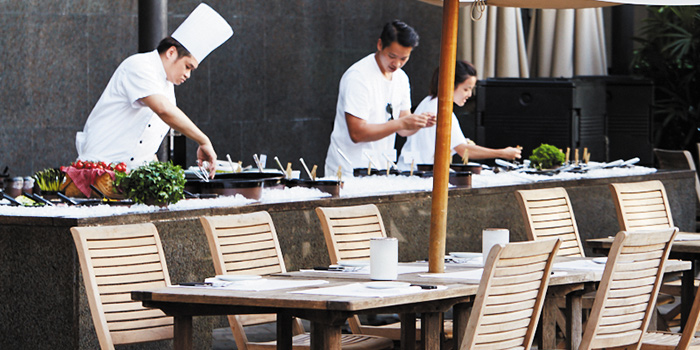 Table Side Food Preparation Outdoors, The Grill, Wan Chai, Hong Kong